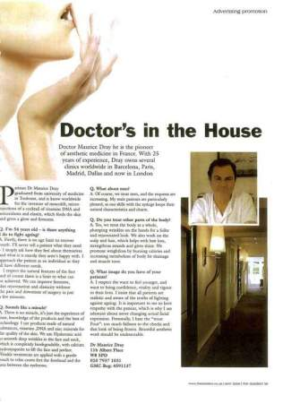 Dr Dray in the press - Interview for The Resident - Aesthetic medicine